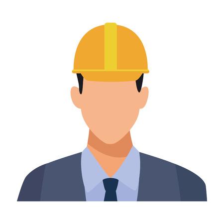 Illustration for Construction engineer avatar profile vector illustration graphic design - Royalty Free Image