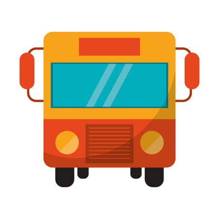 Illustration for Public bus front view symbol vector illustration graphic design - Royalty Free Image