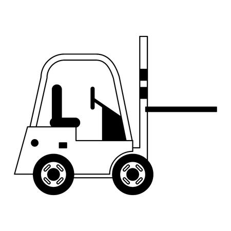Illustration for Forklift cargo vehicle sideview vector illustration graphic design - Royalty Free Image