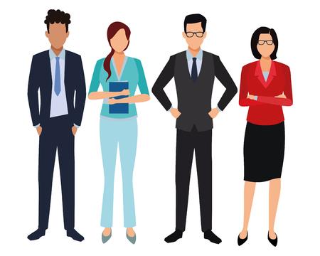 Illustration pour executive business coworkers cartoon vector illustration graphic design - image libre de droit