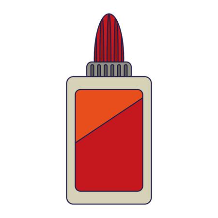 Illustration pour Glue bottle school utensil symbol Designe - image libre de droit