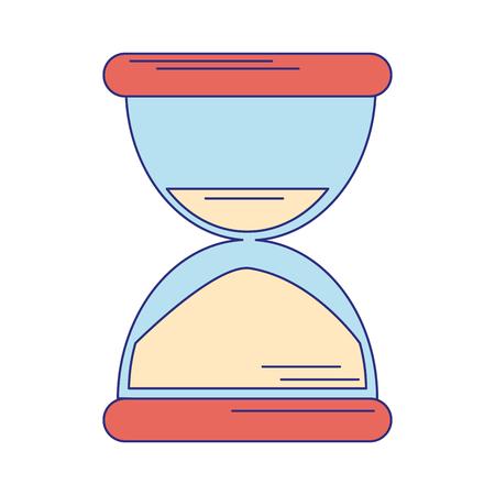 Illustration pour Hourglass sandtime symbol isolated vector illustration graphic design - image libre de droit
