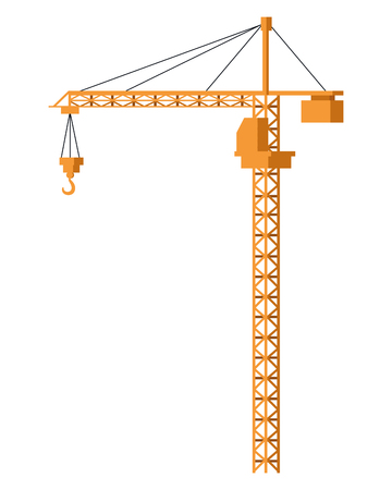 Illustration for Cronstruction crane machinery isolated vector illustration graphic design - Royalty Free Image