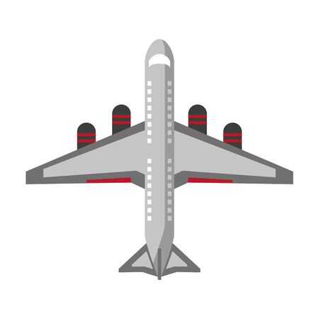 Illustration for Jet airplane aircraft topview symbol vector illustration graphic design - Royalty Free Image