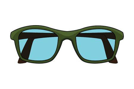 glasses design icon cartoon isolated vector illustration graphic design