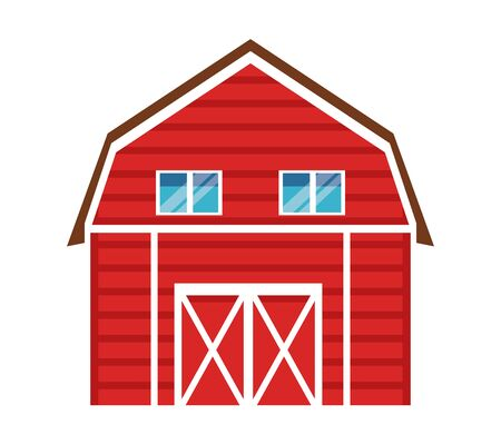 Illustration pour farm, animals and farmer barn icon cartoon vector illustration graphic design - image libre de droit
