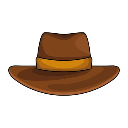 Illustration for Western hat icon over white background, colorful design, vector illustration - Royalty Free Image