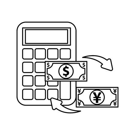Yen Bills Vector Ilration