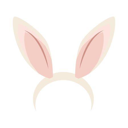 Illustration pour ears rabbit accessory isolated icon vector illustration design - image libre de droit