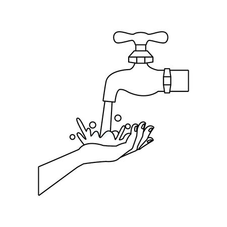 hand human washing isolated icon vector illustration design