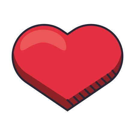 Illustration pour heart love valentines day isolated icon vector illustration design - image libre de droit