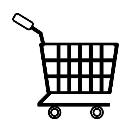 Illustration for shopping cart line style icon vector illustration design - Royalty Free Image