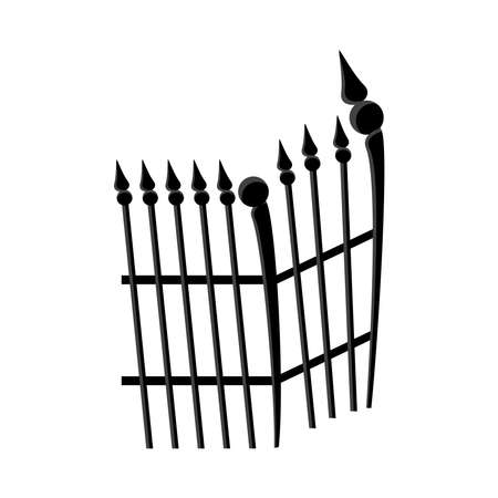 Illustration for cemetery gate metal isolated icon vector illustration design - Royalty Free Image