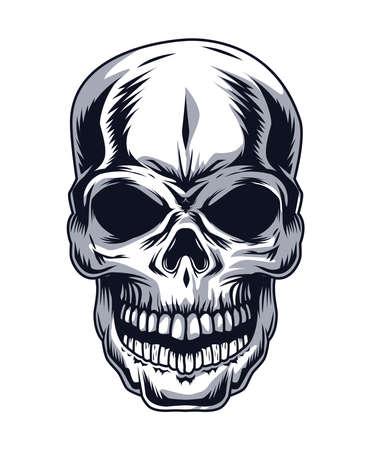 Illustration pour skull head drawn style icon - image libre de droit