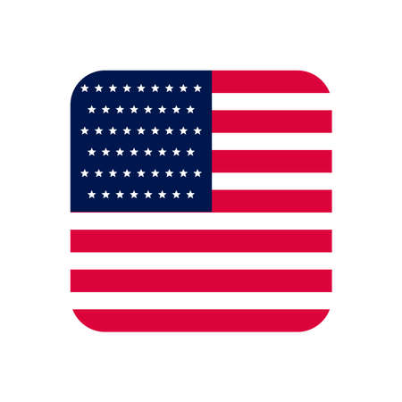 Illustration pour usa flag square - image libre de droit