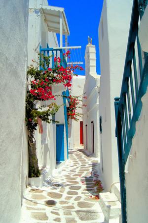 White Streets Of Mykonos