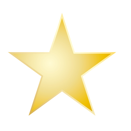 Photo pour Gold star rating icon vector eps10. Star sign. Yellow star icon. - image libre de droit