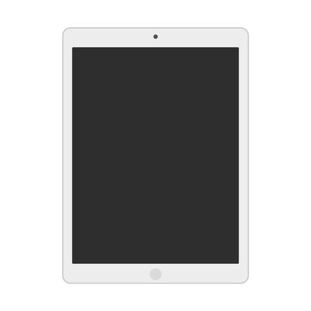 Illustration pour light grey  tablet with dark grey screen vector eps10. grey flat styleTablet - image libre de droit
