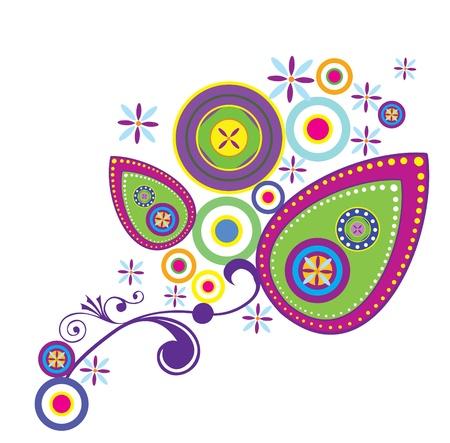 Floral Paisley Design Elements