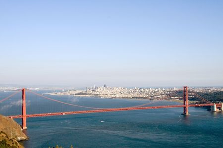 View of the Golden Gate Bridge, San Diego, San Francisco Bay