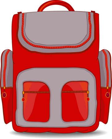 Illustration pour Illustration of isolated school bag for kid on white background - image libre de droit