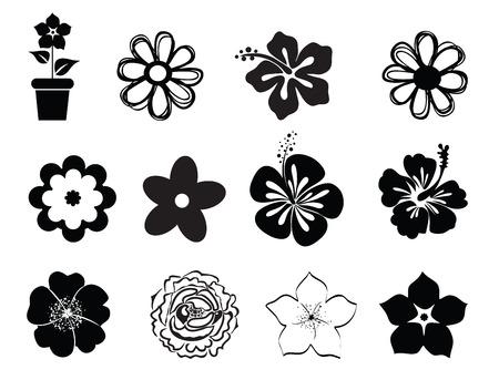 Illustration pour Set of flowers - image libre de droit