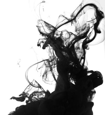 Smoke liquid ink in water