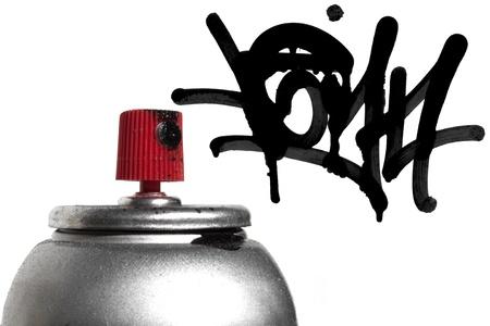 Graffiti spray paint can