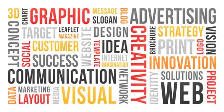 Photo pour Communication and marketing - word cloud - image libre de droit