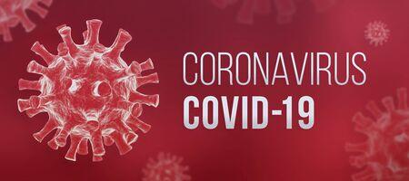 Foto de Coronavirus COVID-19 banner - Imagen libre de derechos