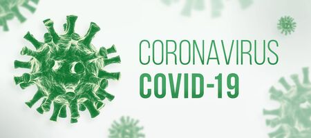 Photo for Coronavirus COVID-19 banner - Royalty Free Image