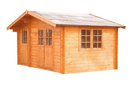 isolated, whitw, background, blockhouse, gardenhouse
