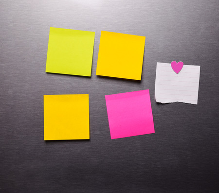 Blank Post it Note With  On The refrigerator