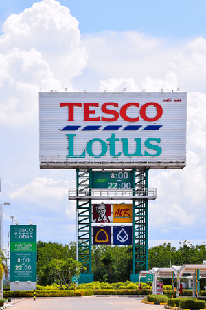LOEI,THAILAND -JUNE 20 ,2015:  Tesco Lotus is a hypermarket chain in Thailand operated by Ek-Chai Distribution System Co., Ltd. It operates 1,400 stores of which 1,500 are Express stores.