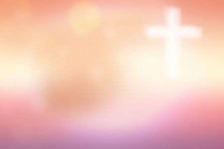 Abstract blurred textured background with cross