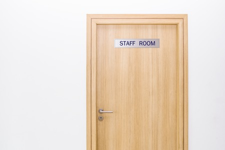 Photo pour door with label staff only sign room in office concept for business - image libre de droit