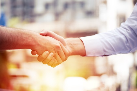 Photo for successful business people handshaking closing a deal ,business team partnership concept - Royalty Free Image