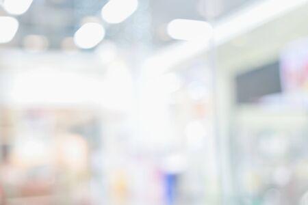 Foto de Blurred light background ,Abstract light bokeh at interior hallway composition for , website, magazine or graphic for commercial campaign design - Imagen libre de derechos