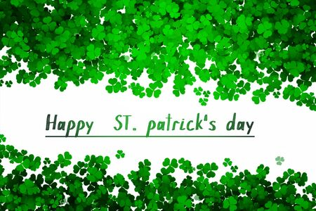 Photo for Happy ST Patrick's day green background clover leaf bokeh lights defocused for ST Patrick's day celebration design background - Royalty Free Image