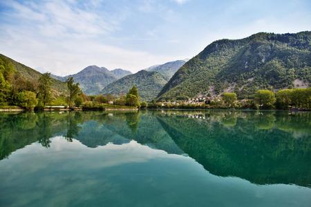 Beautiful nature in small village Most na Soci, Slovenia EU