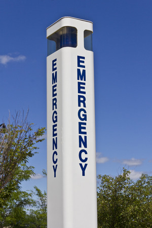 Emergency Entrance Beacon for a Local Hospital IX