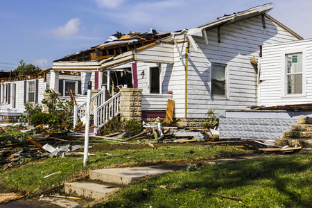 Photo pour Kokomo - August 24, 2016: Several EF3 tornadoes touched down in a residential neighborhood causing millions of dollars in damage. This is the second time in three years this area has been hit by tornadoes 25 - image libre de droit
