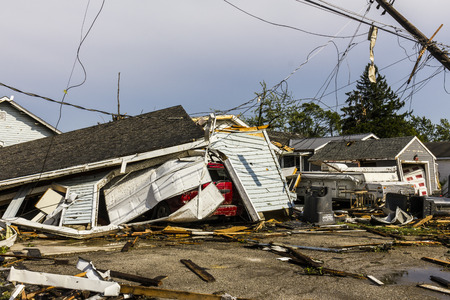 Photo pour Kokomo - August 24, 2016: Several EF3 tornadoes touched down in a residential neighborhood causing millions of dollars in damage. This is the second time in three years this area has been hit by tornadoes 42 - image libre de droit