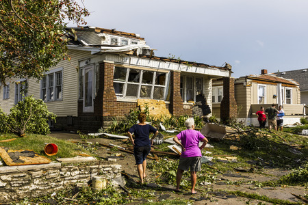 Photo pour Kokomo - August 24, 2016: Several EF3 tornadoes touched down in a residential neighborhood causing millions of dollars in damage. This is the second time in three years this area has been hit by tornadoes 19 - image libre de droit