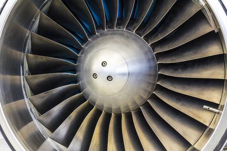 Photo pour Turbine Blades of an Airplane Jet Engine I - image libre de droit