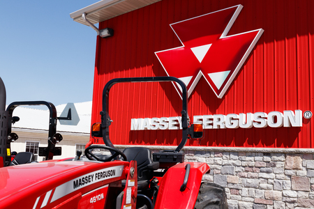 Plevna - Circa May 2018: Massey Ferguson dealer. Massey Ferguson is a manufacturer of agricultural equipment II