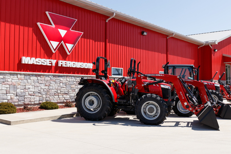 Plevna - Circa May 2018: Massey Ferguson dealer. Massey Ferguson is a manufacturer of agricultural equipment I