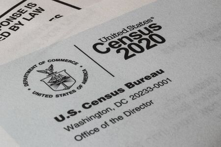Photo pour Census 2020 form. The census is the procedure of systematically acquiring and recording information about the members of a given population. - image libre de droit