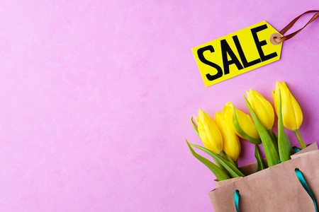seasonal spring sale, shopping banner template
