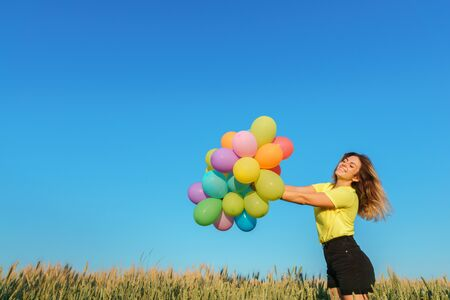 Photo for Active woman having fun on summer vacation - Royalty Free Image